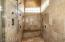 Master shower with 6 heads/steam shower is approximately 8 X 4 feet.