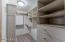Master bedroom with walk in closet!