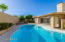 Heated pool with pavers and fruit trees!