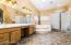 Master Bathroom with Dual Sink and Vanities