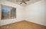 Private office, exercise or bonus room with sound dampening cork flooring