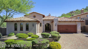 Stunning 4 bedroom, 2 1/2 bath, 2 car garage, Tuscan Style home on the mountain w/heated lap pool. Located in award winning Las Sendas, a community with pools, parks & activities for all ages. At the mountains close to the 202 Red Mtn. Freeway.