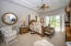 Wonderfully spacious master suite with patio doors