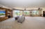 This lower level great room is perfect for the family