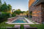 Pool (daylight) - The pool and spa are both heated and lit with smart LED lighting. Plus, the outdoor space is equipped with wireless outdoor speakers! Can you say pool party!?