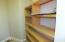 Built in shelf in the pantry