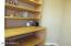 Built in shelfs on both side of pantry