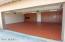 stained garage floor.