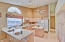 Large kitchen with island and lots of natural light!