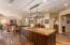 Siberian Oak floors, custom built cabinetry, marble and granite countertops.