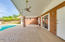 Covered Patio with Ceiling Fan, Recessed Lighting & Mister System