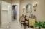 Custom painted faux walls,walk in closet, separate water room