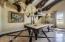 Custom designed stone and hardwood floor