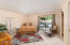Master Bedroom with Private Courtyard and Pool/Backyard access.