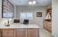 Beautiful office built-ins with granite countertop