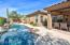 Low maintenance backyard with all the desired amenities