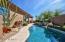 No maintenance backyard with sparkling pool
