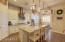 Serene space for dining or entertaining at the Granite Island Breakfast Bar