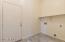 Laundry Room with door to garage.