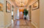 COFFERED CEILING AT ENTRY * DIAGONAL TILE WITH GRANITE ACCENT