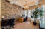 STONE WALL & COFFERED CEILING * COULD BE FORMAL DINING OR OFFICE OR DEN