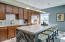 Large Kitchen Island w/ Dekton & Granite Counter Tops. Beautiful Custom Back Splash