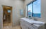 Double vanity and private shower and toilet
