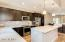 Stainless steel appliances and upgraded backsplash