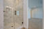 Gorgeous marble subway tile detail in the second master shower.