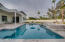 The pool's surface is made out of Presidential pool's own formula Pebble Radiance. Similar to pebble sheen.