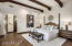The luxurious master suite is split from the secondary bedrooms and makes for a perfect sanctuary.