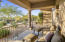 This private courtyard off of Bedroom 2 overlooks Pinnacle Peak mountain and provides a quiet sanctuary for relaxing or reading your favorite book.