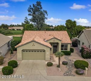 This well-maintained and updated house is located in the 55+ guard gated community of Arizona Traditions.