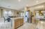 Spacious Eat In Kitchen and Island