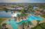 sky view of pool and club house