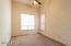 Nice size room with ample closet space and ceiling fan