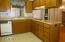 Lots of countertop, cabinetry