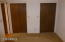 Guest bedroom double closets