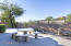Backyard with Partial View Fence, Privacy, Twinkling City Lights