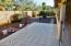Rear patio, ceramic tiled