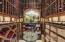 Climate controlled wine room provides plenty of storage for your favorite wines.