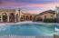 This resort like backyard is anchored by a spacious pool and multiple patio areas both covered and uncovered.