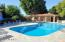 Enjoy change rooms, showers rest rooms and saunas while at this gorgeous pool area!