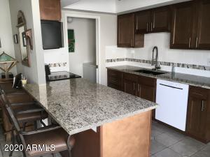 Updated kitchen open to family room