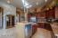 Granite countertops and open kitchen area