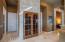 Custom made wood and glass wine cellar doors