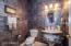 Tuscan inspired powder room