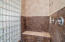 Easy access master shower with traditional and rainhead showerheads