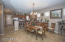 Formal dining room open to kitchen and breakfast bar