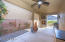 Wonderful private patio with gas fireplace